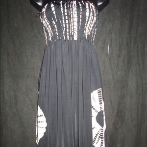B&w silky dress